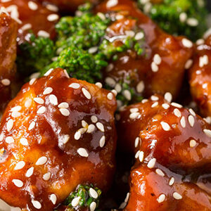 Healthy delicious Sesame Chicken for curbside carryout, catering and delivery in Newport News and Hampton, VA