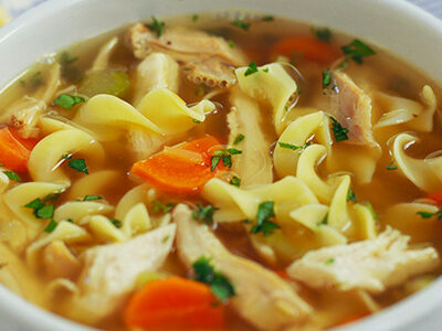 Healthy delicious Chicken Noodle Soup for curbside carryout, catering and delivery in Newport News and Hampton, VA