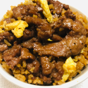 Healthy delicious Beef Fried Rice for curbside carryout, catering and delivery in Newport News and Hampton, VA