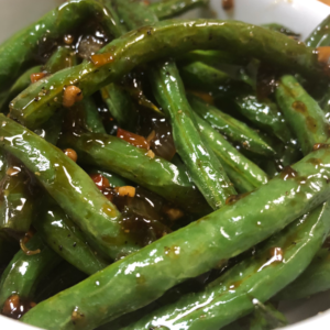 Healthy delicious Stir Fry Green Beans and Garlic for curbside carryout, catering and delivery in Newport News and Hampton, VA