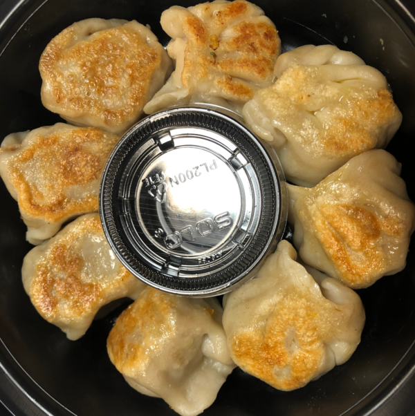 Healthy delicious pan fried dumplings made from scratch for curbside carryout, catering and delivery in Newport News and Hampton, VA