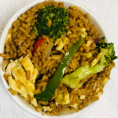 Healthy delicious Vegetable Fried Rice for curbside carryout, catering and delivery in Newport News and Hampton, VA